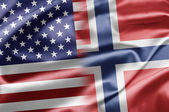 USA and Norway — Stock fotografie