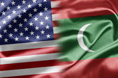 Estados unidos y maldivas — Foto de Stock
