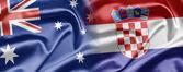 Австралия и Хорватия — Стоковое фото