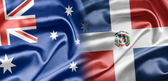 Australia and Dominican Republic — Stock Photo