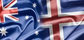 Australien und island — Stockfoto