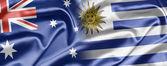 Australia and Uruguay — Stock Photo