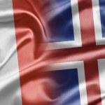 Постер, плакат: France and Iceland