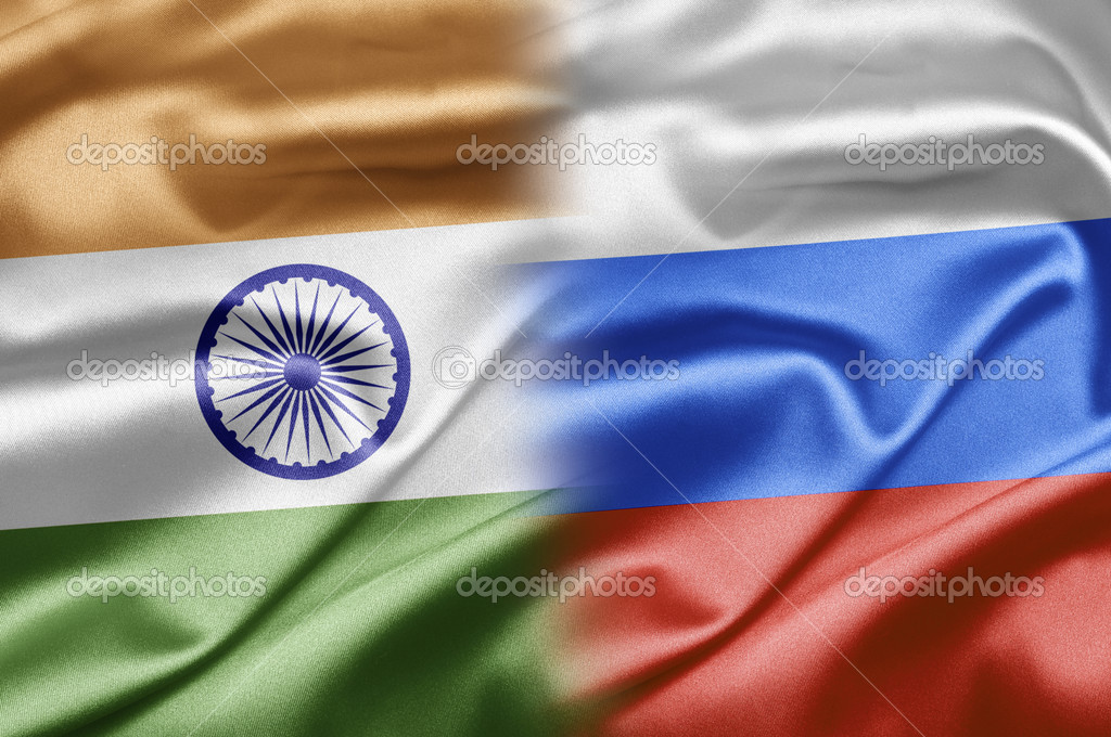 India and the nations of the world. A series of images with India flag — Stock Photo #12698939