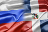 Russia and Dominican Republic — Stock Photo