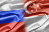 Russia and Singapore — Stock Photo