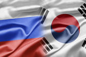 Russia and South Korea — Stock Photo
