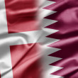 Denmark and Qatar — Stock Photo
