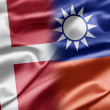 Denmark and Taiwan — Foto Stock