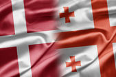 Denmark and Georgia — Stock Photo