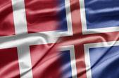 Dänemark und island — Stockfoto