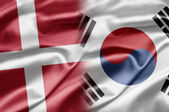 Denmark and South Korea — Stock Photo