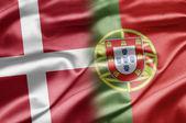 Danmark och portuga — Stockfoto
