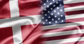 Denmark and USA — Stock Photo