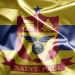 Flag of St. Paul, Minnesota - Stock Photo