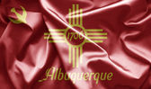 Flag of Albuquerque — Stock Photo