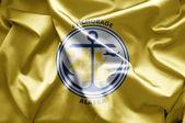 Flaga anchorage, alaska — Zdjęcie stockowe