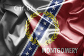Flag of Montgomery, Alabama — Stock Photo