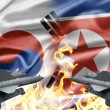 The confrontation between South Korea and North Korea — Stockfoto