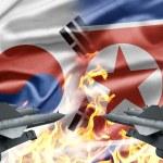 el enfrentamiento entre Corea del sur y Corea del norte — Foto de Stock