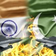 The confrontation between India and Pakistan - Stock Photo