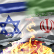 Stock Photo: Confrontation between Israel and Iran