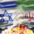 The confrontation between Israel and Iran - Stock Photo