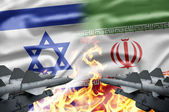 The confrontation between Israel and Iran — Stock Photo