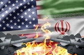 The confrontation between US and Iran — Stock Photo