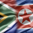 South Africa and North Korea — Stock Photo