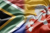 Южная Африка и Бутан — Стоковое фото