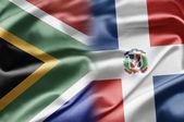 Südafrika und dominikanische republik — Stockfoto