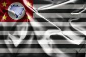 Vlag van sao paulo — Stockfoto