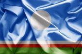 Flaga Sakha (Rosja) — Zdjęcie stockowe