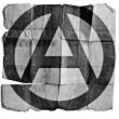 Anarchy sign on old paper. — Stock Photo