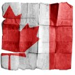 Canada sign on old paper. — Stock Photo