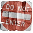 Do not enter sign — Stock Photo