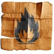 Fire Hazard warning symbol - Stock Photo