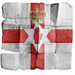 Flag of Northern Ireland on old paper. — Stock Photo