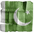 Pakistan flag on old paper. — Stock Photo