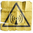 Radio waves hazard sign — Stock Photo