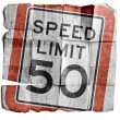Speed limit 50 — Stock Photo #19116713