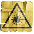 Stock Photo: Symbol for Laser warning sign