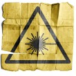 Symbol for Laser warning sign - Stock Photo