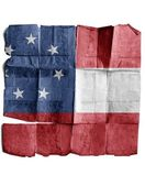 Confederate army's first national flag — Stockfoto