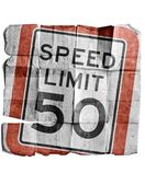 Speed limit 50 — Foto de Stock