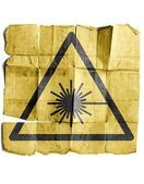 Symbol for Laser warning sign — Stock Photo