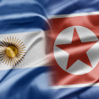 Argentina and North Korea — 图库照片