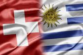 Schweiz und uruguay — Stockfoto