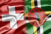 Switzerland and Dominica — Stock Photo